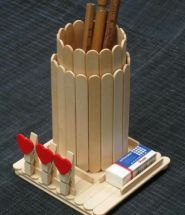 Popsicle Stick Crafts Pencil Holder