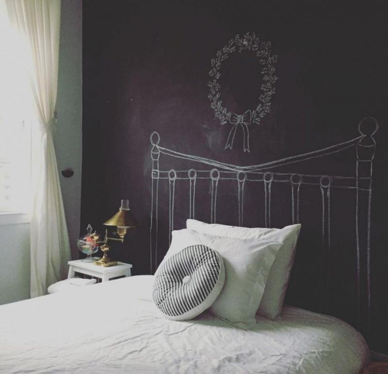 diy headboard attached to bed frame