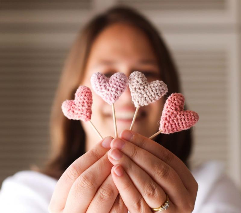 crochet heart chain pattern free
