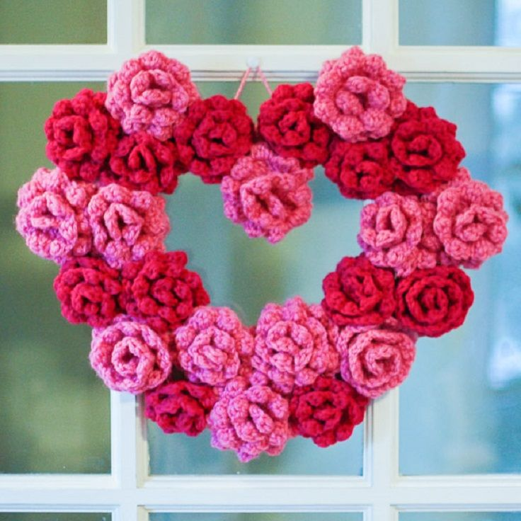 crochet heart pattern diagram