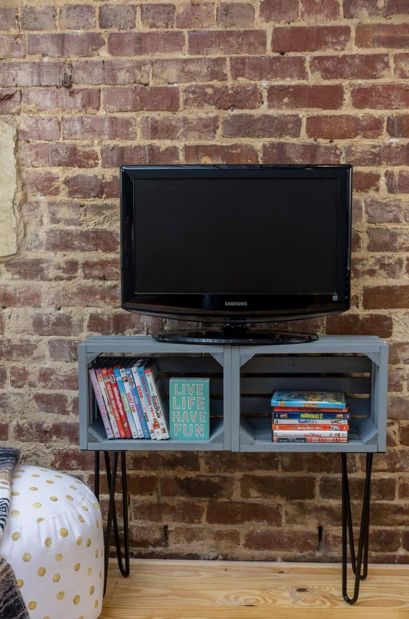 diy tv stand blueprints