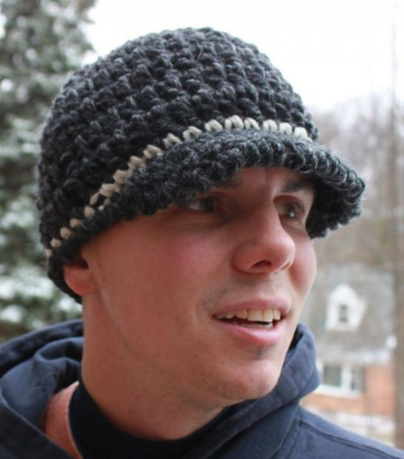 mens crochet scarf and hat pattern