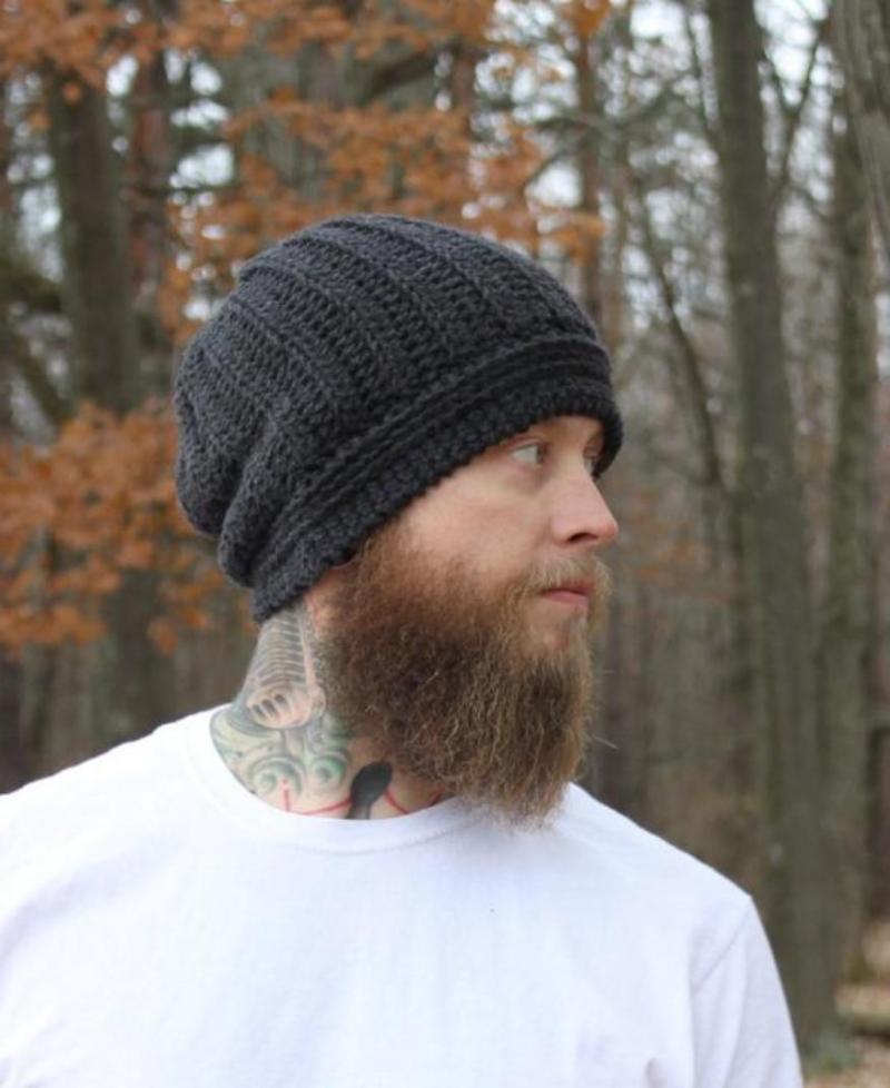 mens crochet beanie hat pattern free