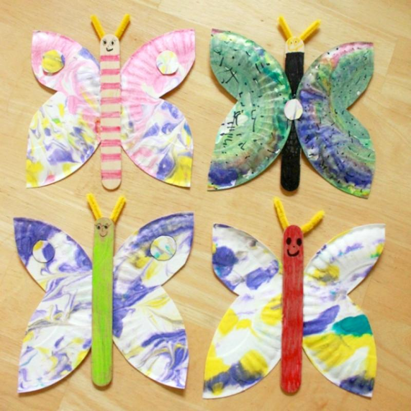 clothespins butterfly crafts