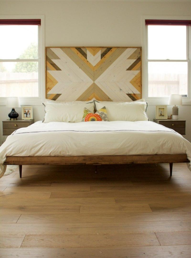 diy wood headboard and footboard