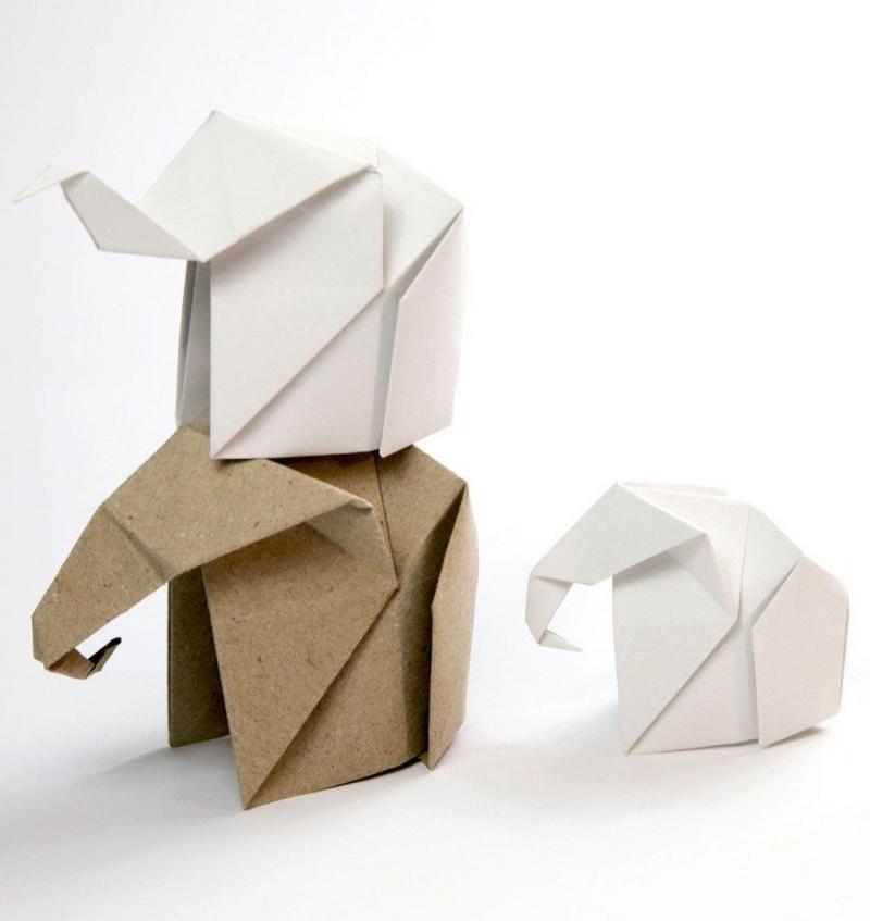 origami little elephant
