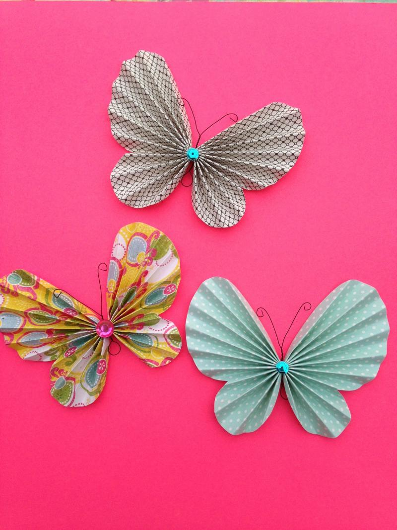 gold butterfly crafts