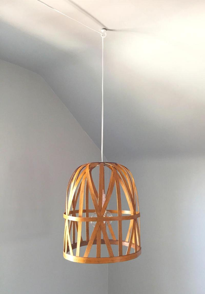 diy concrete pendant light