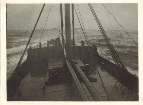 The USAT Barbara C in a Storm
