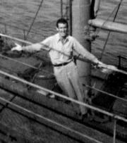 Jack Beritzhoff aboard the Barbara C