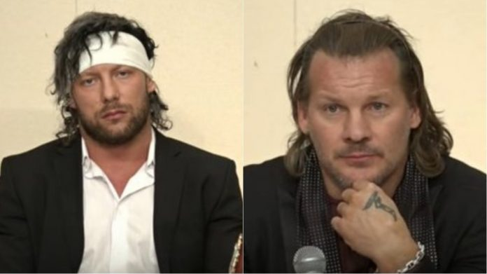 Image result for Chris Jericho And Kenny Omega Brawl At Wrestle Kingdom 12 Press Conference (Video)