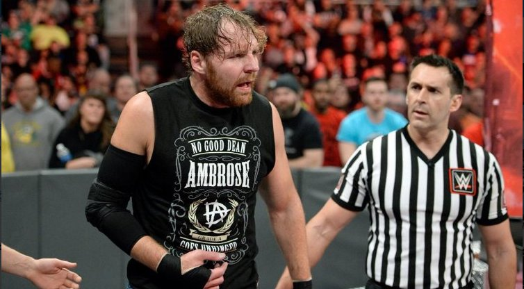 Image result for dean ambrose injury 12/18/17