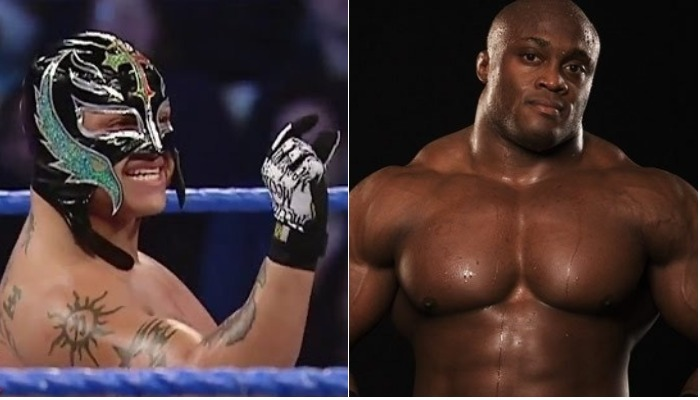 Image result for Bobby Lashley and Rey Mysterio