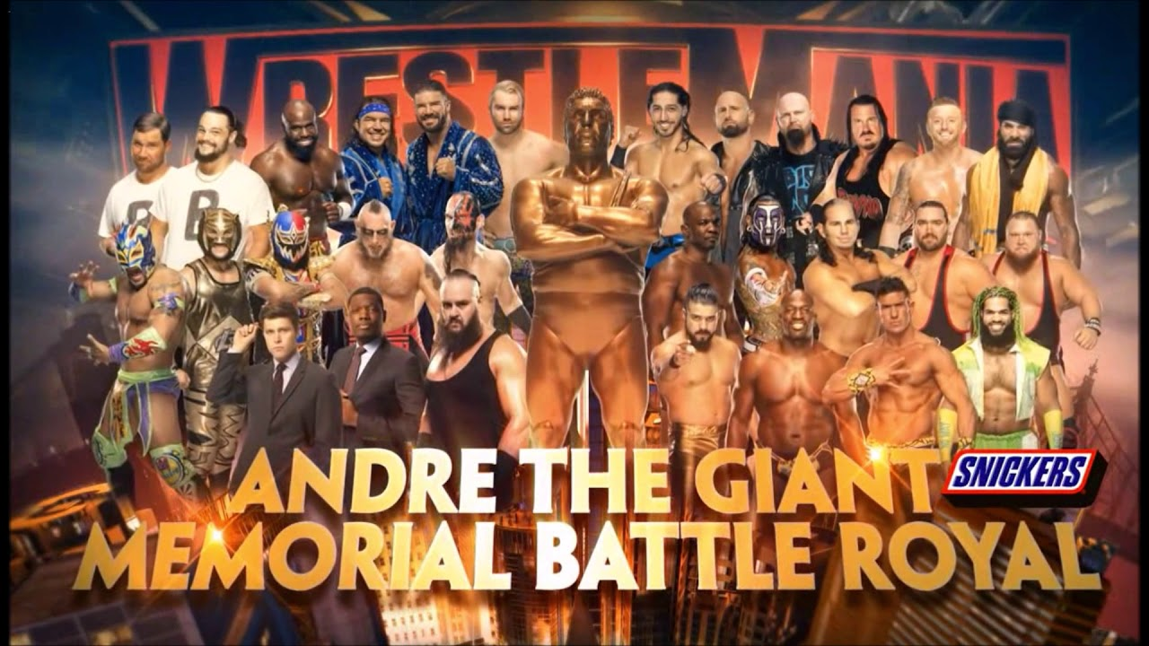 Bildergebnis für wwe wrestlemania andre the giant battle royal 2019