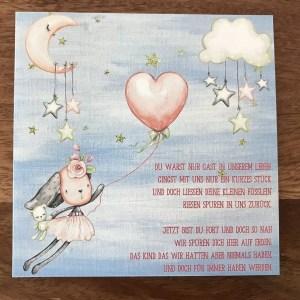 Trauerkarte für Kinder