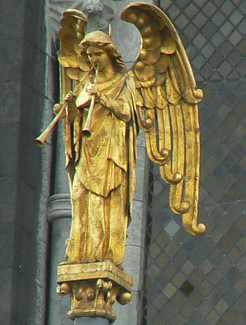 The Angel of the Resurrection at St Fin Barre's Cathedral, Cork, Ireland