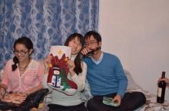 Xiaopei & Frnak with their stocking.