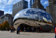 Ok not really a statue but more like a beautiful piece of sculpture. This one of course is located in Chicago, IL USA. One of my favorite cities in the world!!