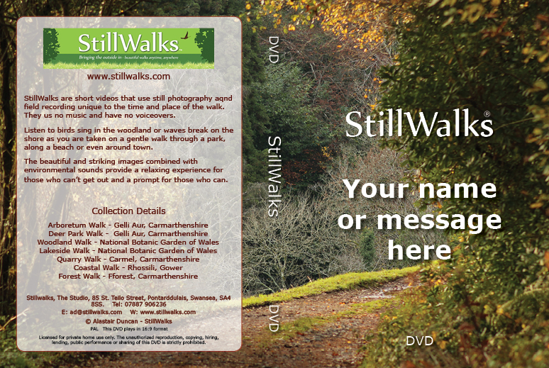 StillWalks Bespoke DVD Cover