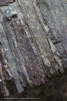Llansteffan Castle stonework patterns