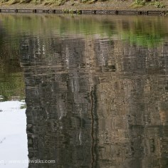 River Tawe bridge reflection