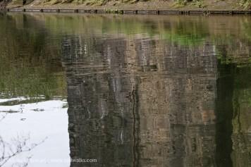 River Tawe bridge reflection