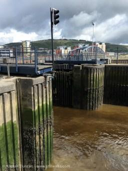 River Tawe lock exit
