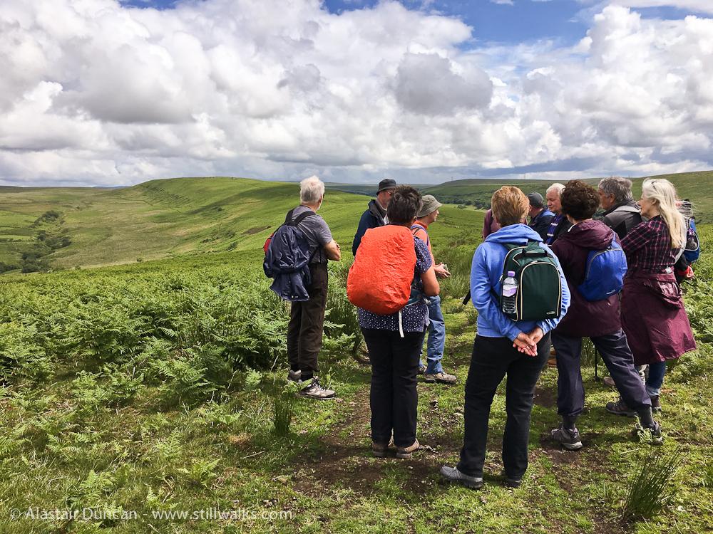 walkers looking to Twyn Tyle