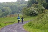 walkers in the wet