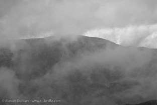 Monochrome Mountain and Cloud