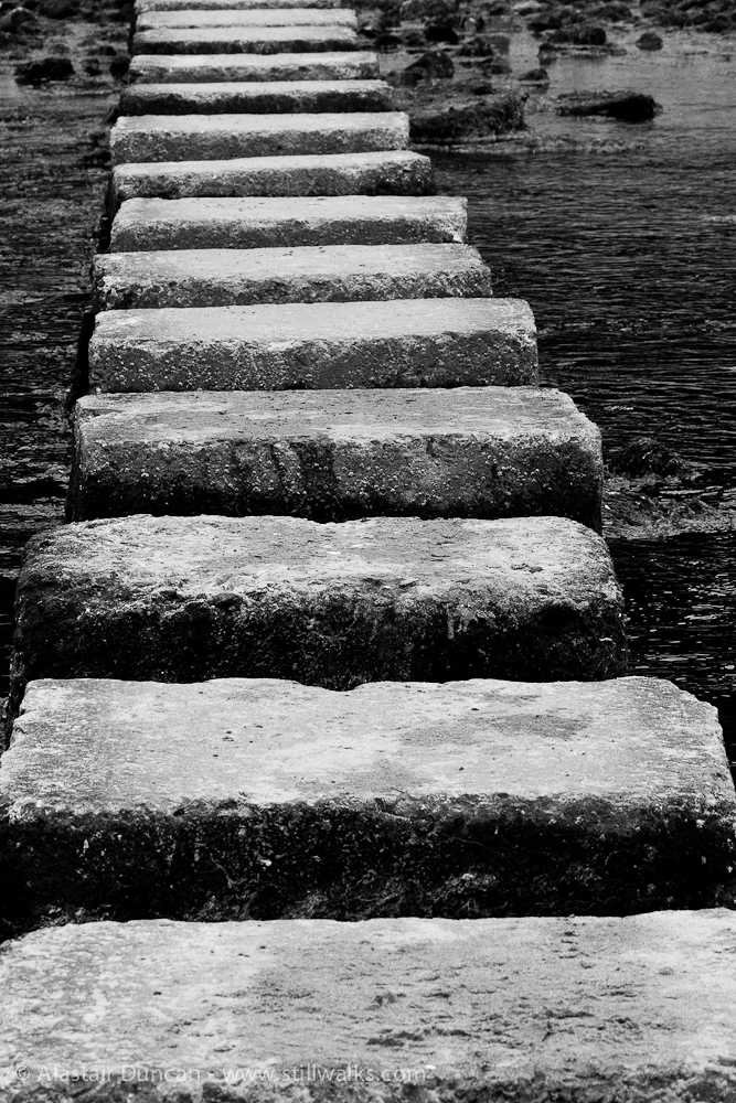 Monochrome Stepping Stones