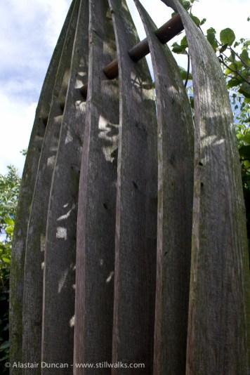 Kunsthuis garden sculpture detail