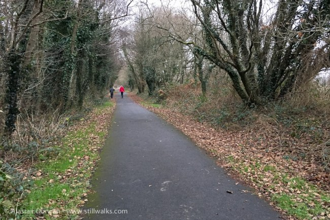 long straight footpath