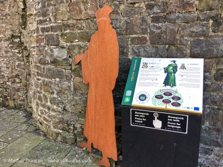Carmarthen Castle figure