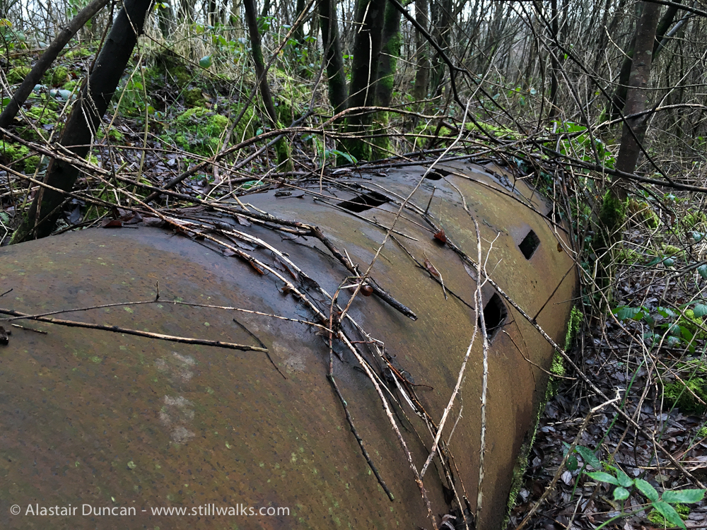 abandoned iron pipe
