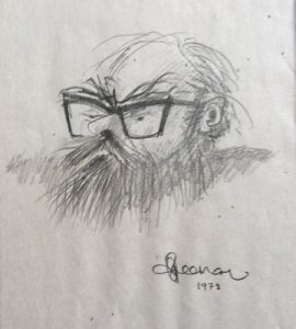 Dad caricature by Bob Freeman