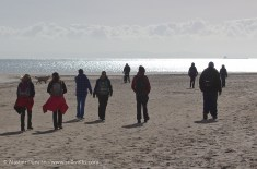 ToG walkers on Oxwich beach