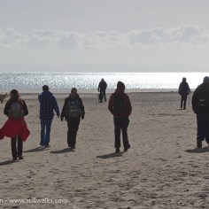 ToG walkers on Oxwich beach