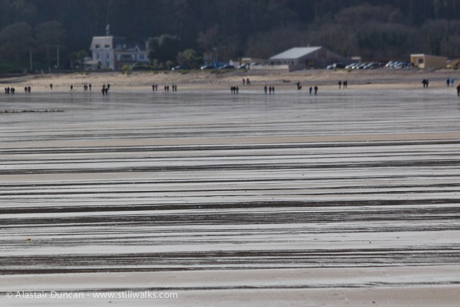 wet stripes on Oxwich beach