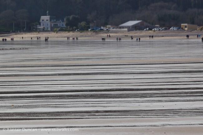 wet stripes on Oxwich beach
