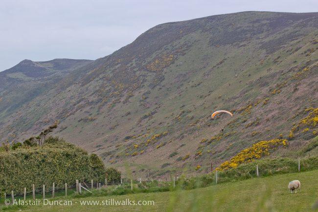 Rhossili hang gliding