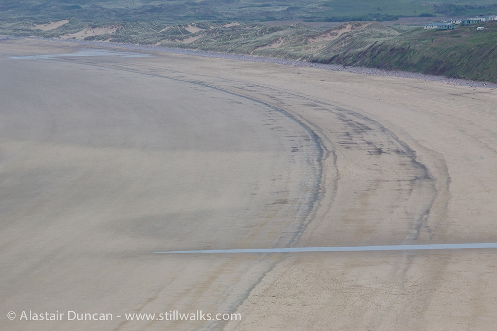 Rhossili Beach from the cliffs