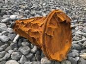 rusty oil drum