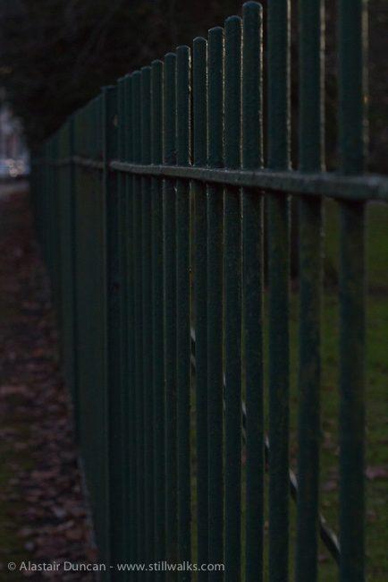 Dark Park Railings
