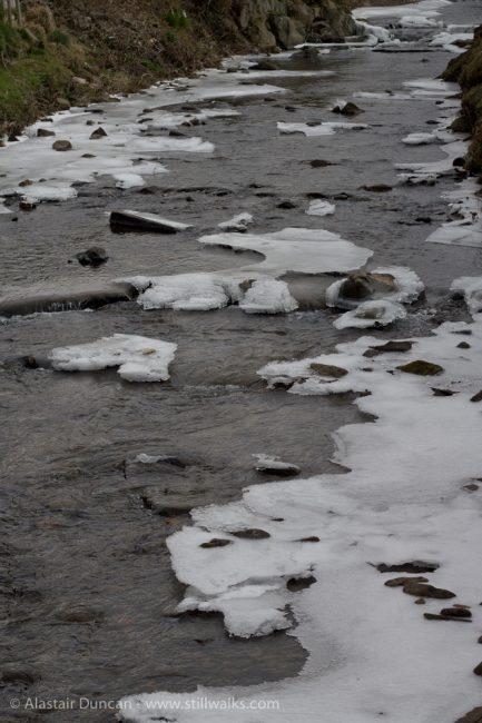 Afon Dulais ice