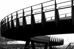 b&w footbridge