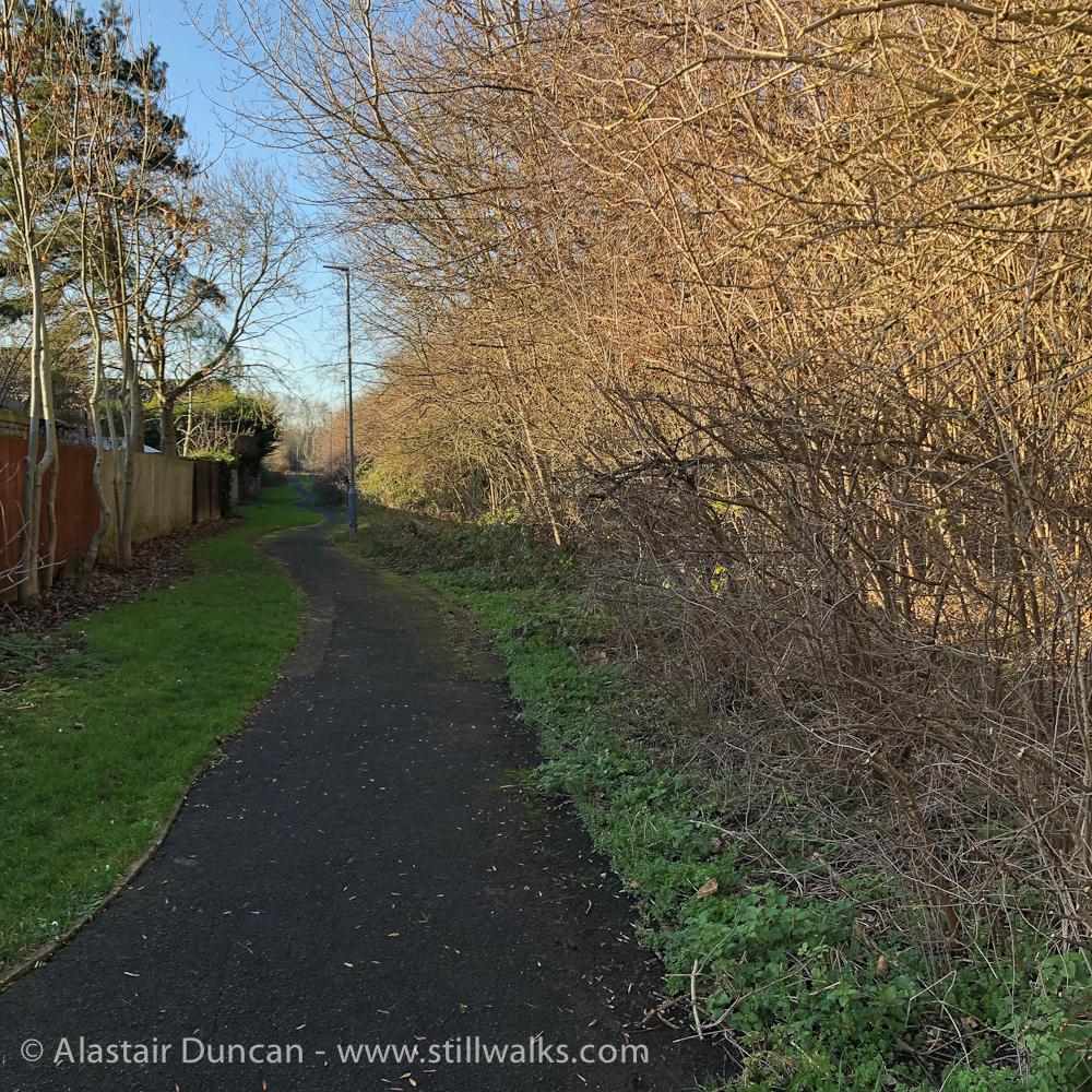 suburban footpath