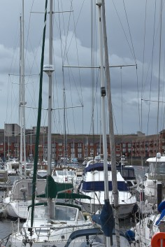 masts and rigging in the wind