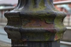 weathered lamp post