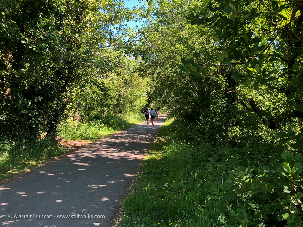 walking on the cycle path